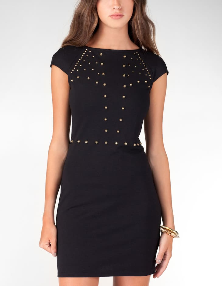Tube dress with studs