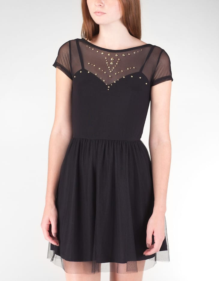 Tulle dress with studs