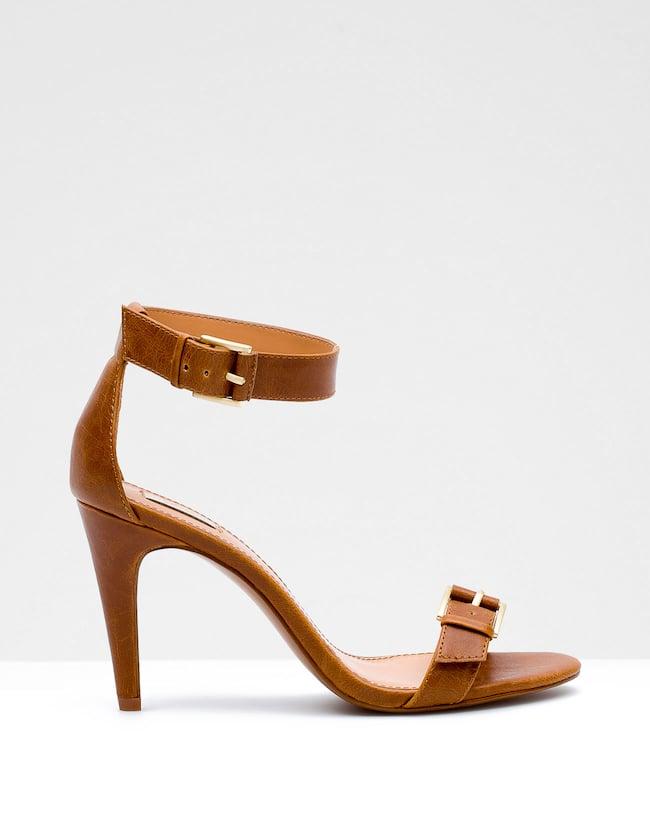 High heel sandals with buckle
