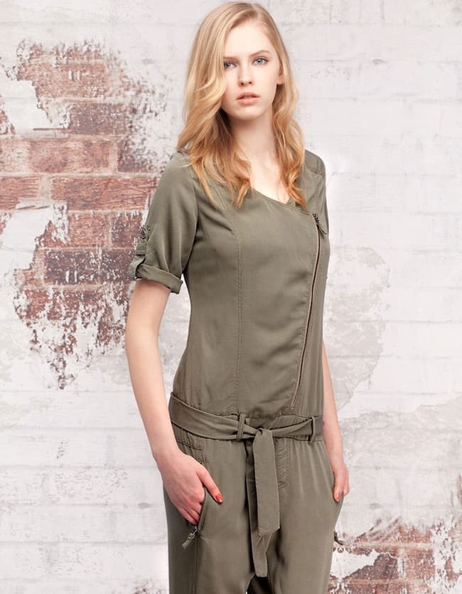 Jumpsuit with wrapover front