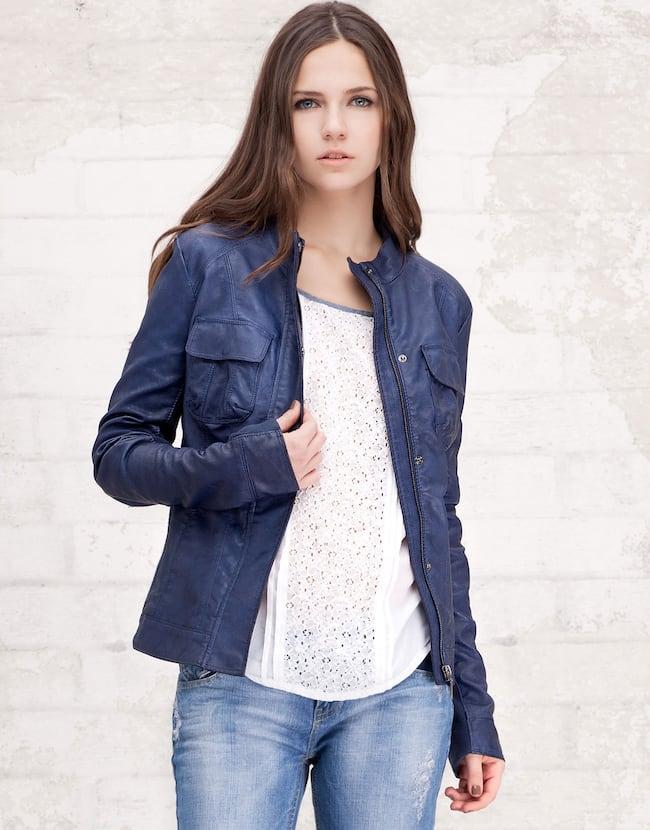 Jaqueta básica com lados elásticos