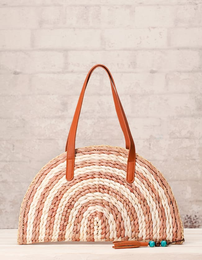 Raffia fan bag