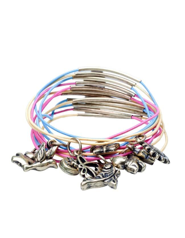 Set of twelve charm bracelets