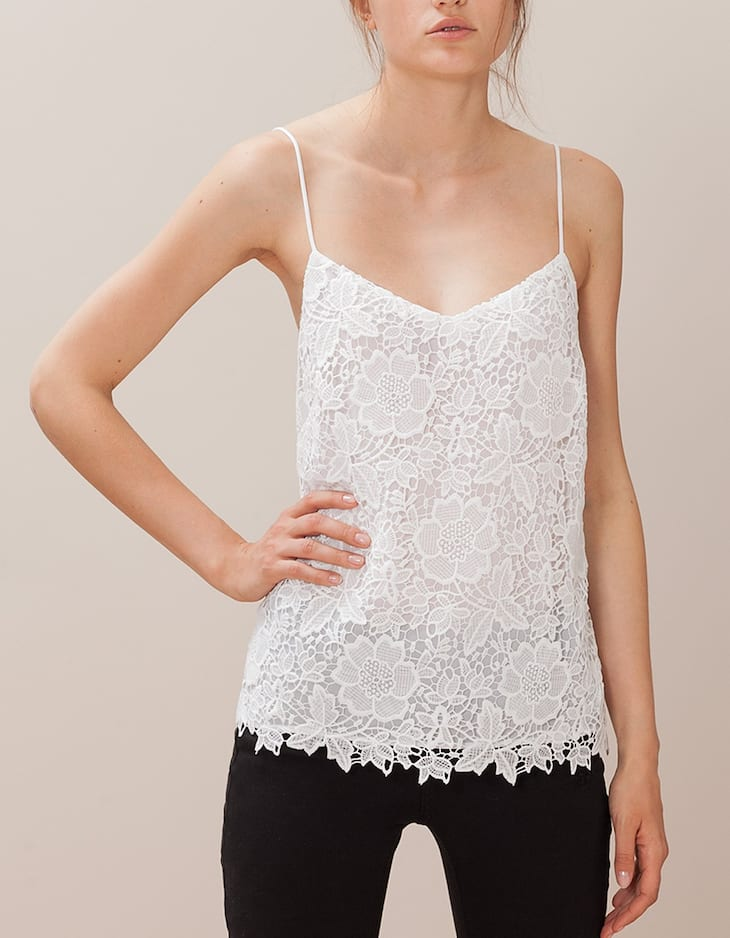 Top with crochet straps