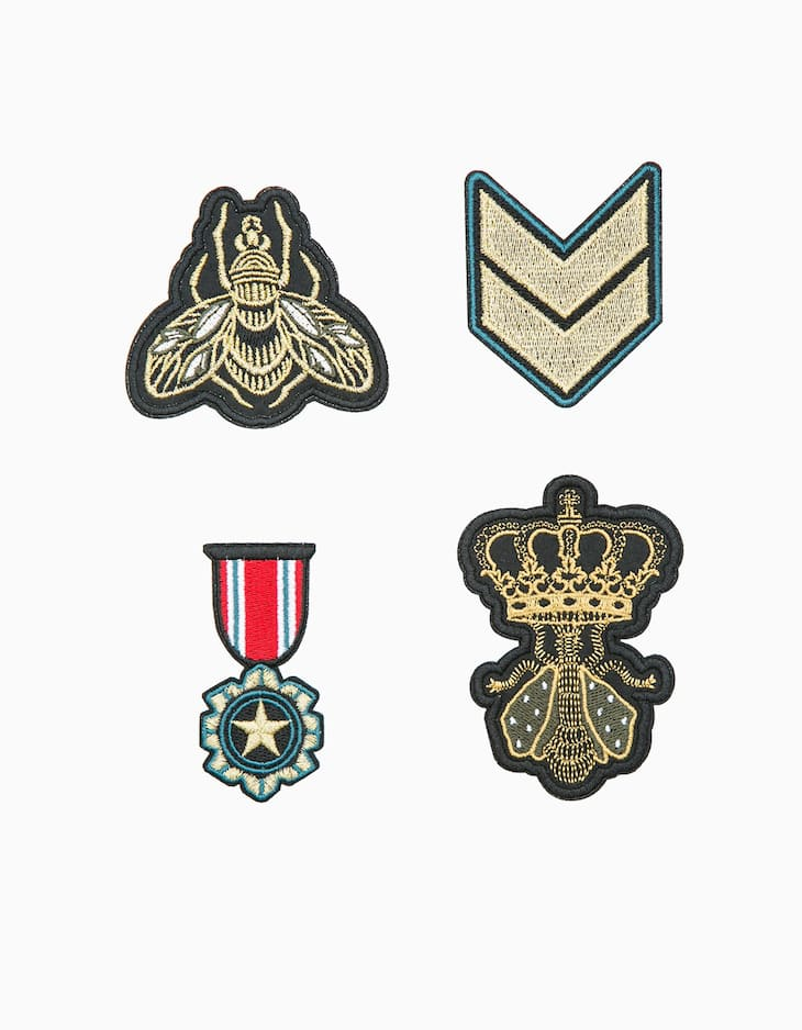 Set of 4 military patches