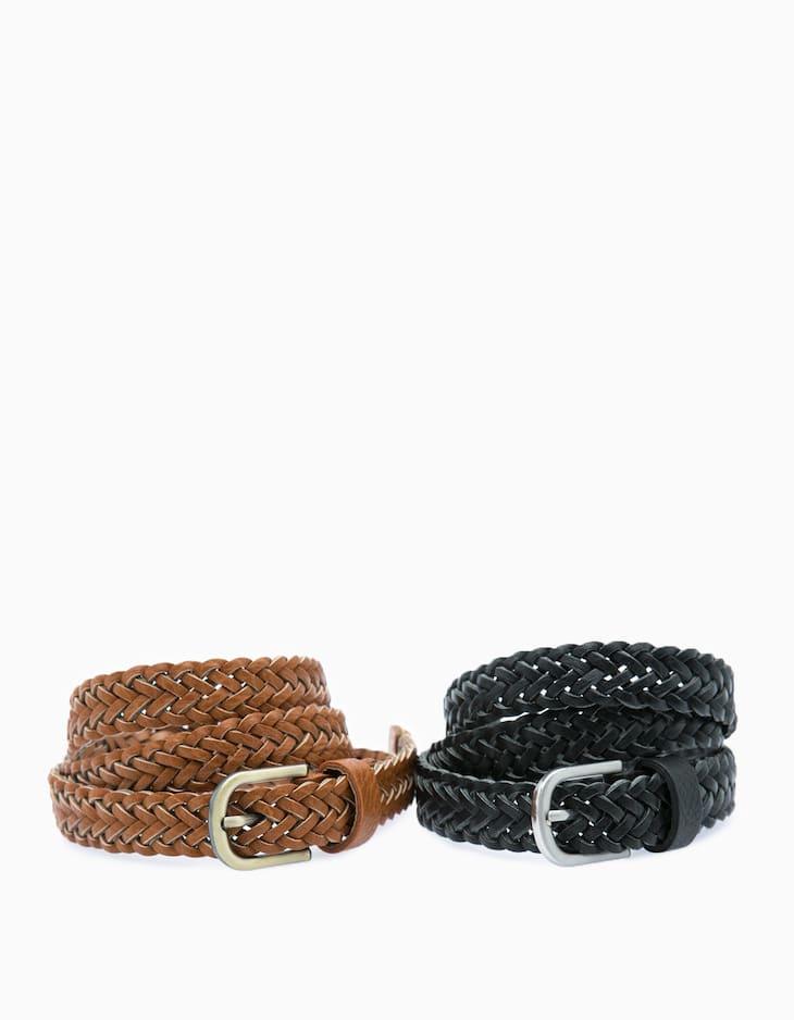 Set of 2 braided belts