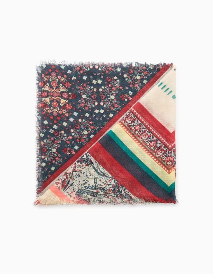 Print neck scarf