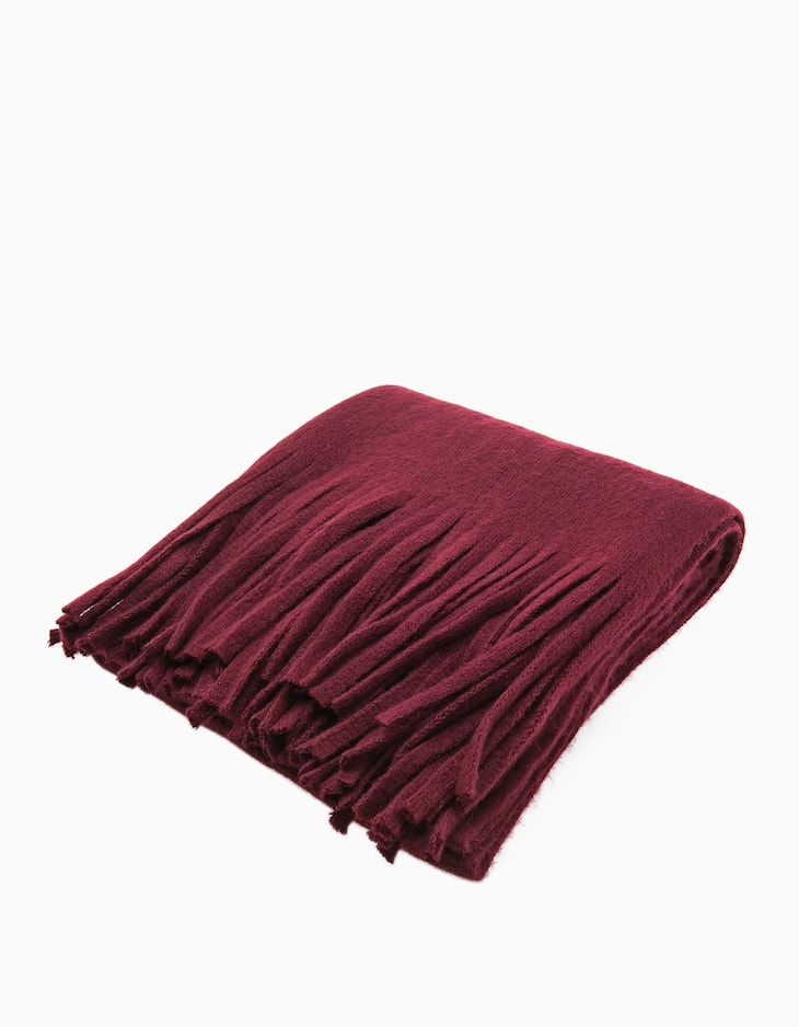 Scarf with fringing detail