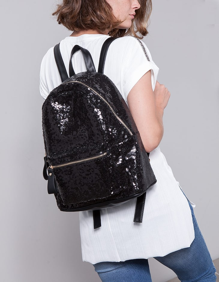 Sequinned backpack