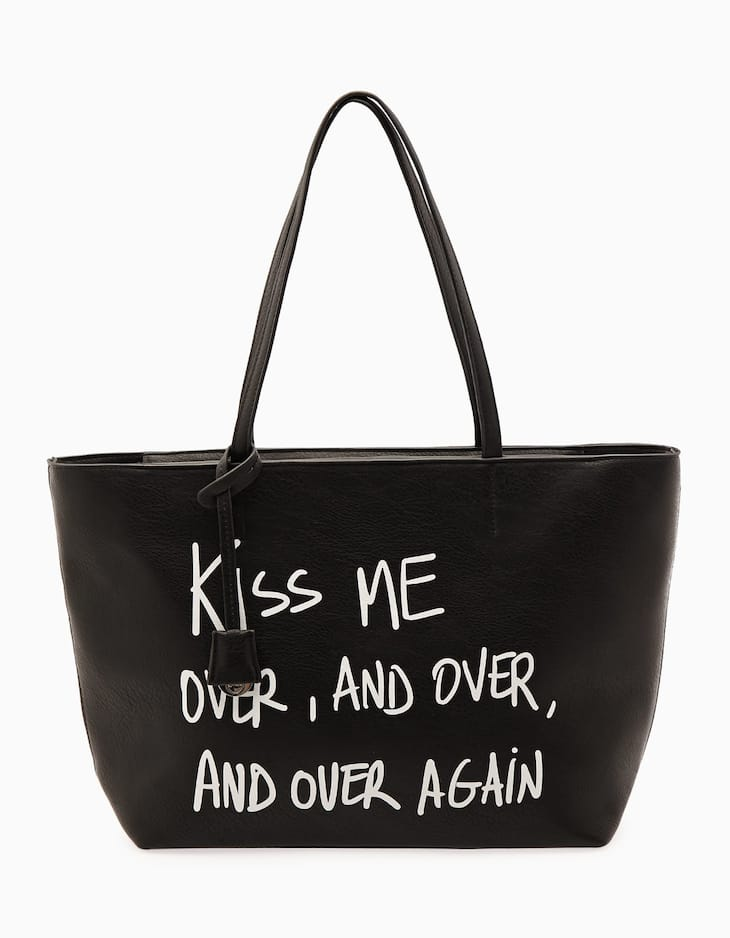 Shopper bag with message