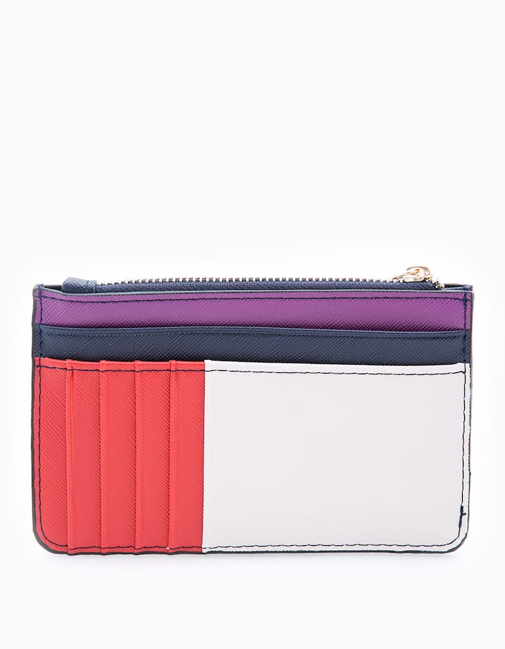 Colour block card holder