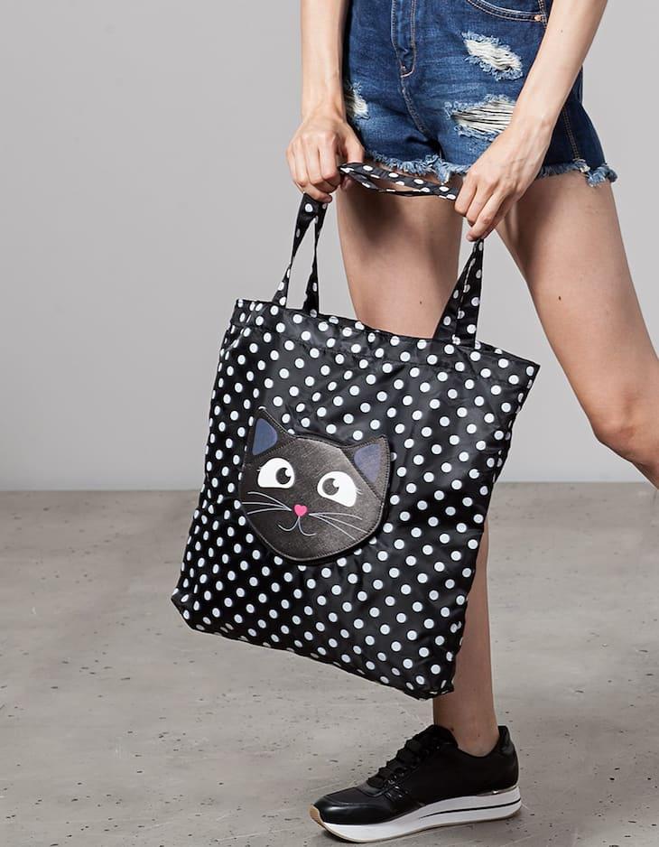 Cat fold up bag