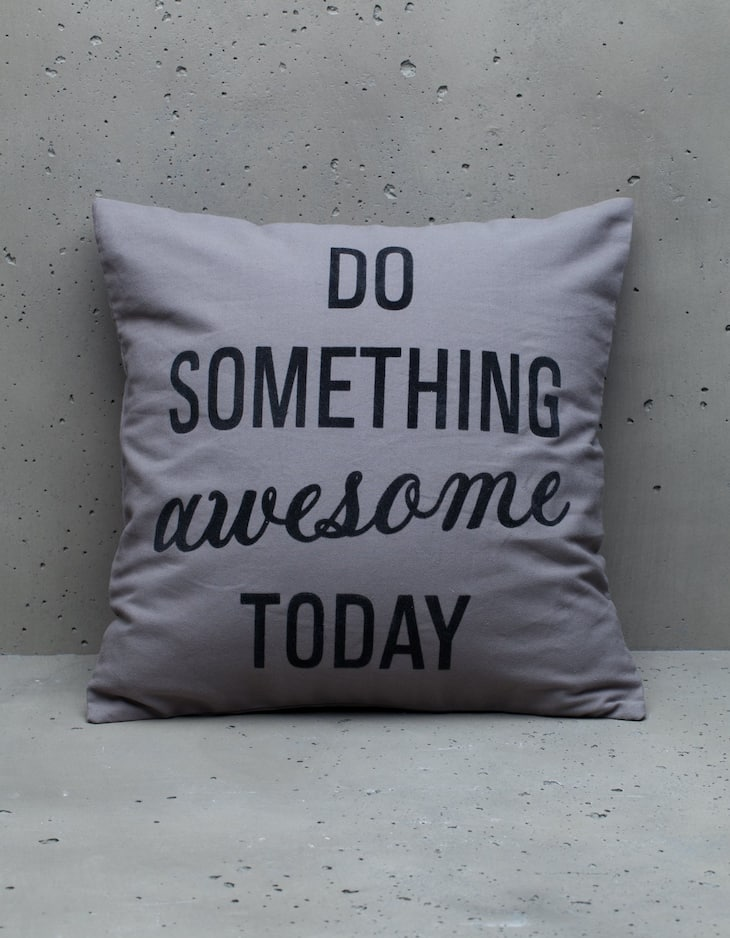 Do Something Awesome cushion cover