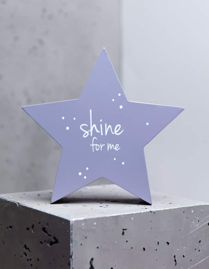 Shine For Me' Wooden Star