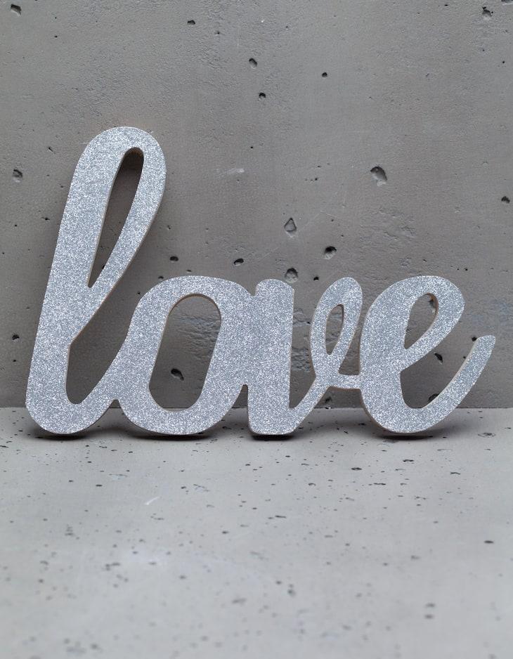 Zierobjekt Schriftzug Love