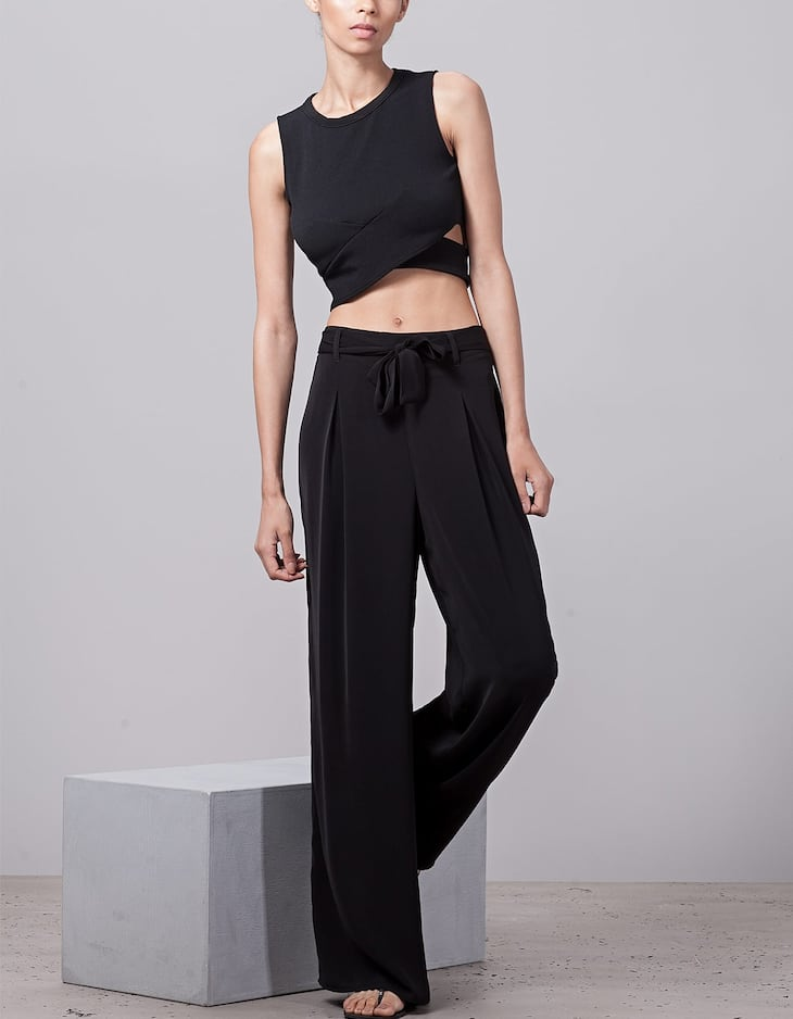 Loose-fitting palazzo trousers