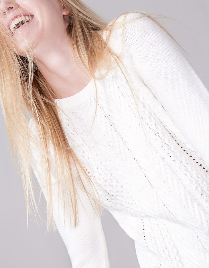 Braided tricot jersey