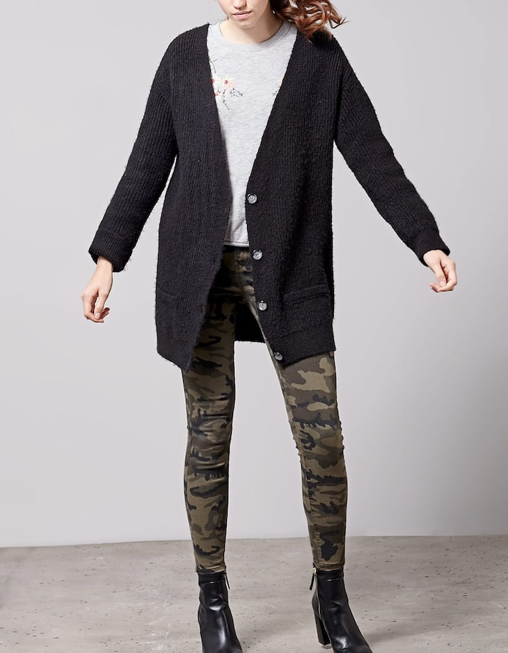 Cardigan with pocket detail