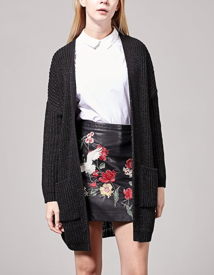 Cardigan with glitter detail