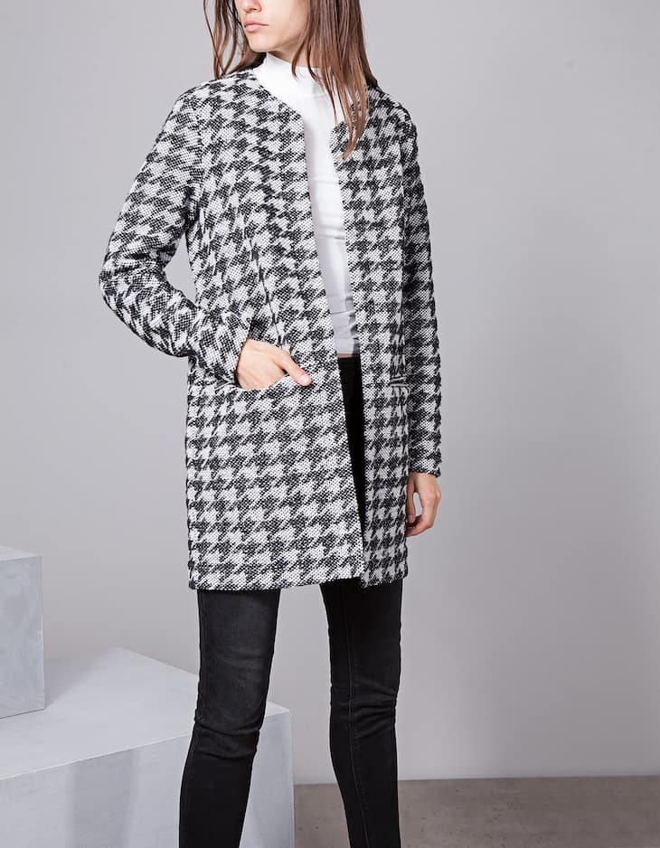 Knitted coat with zip detail