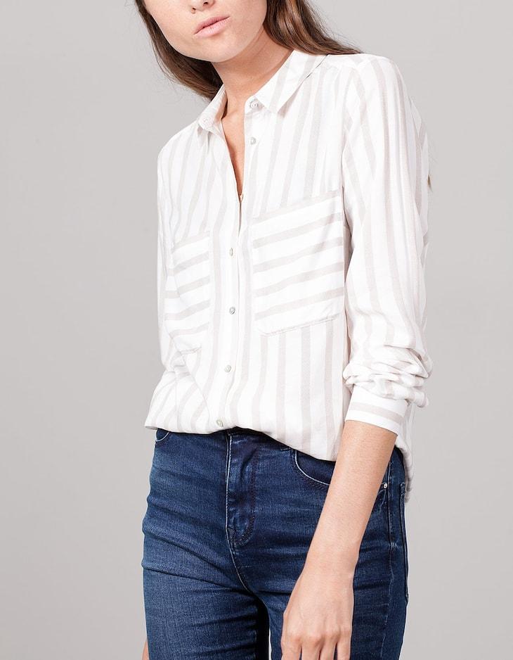 Stripe Viscose Shirt
