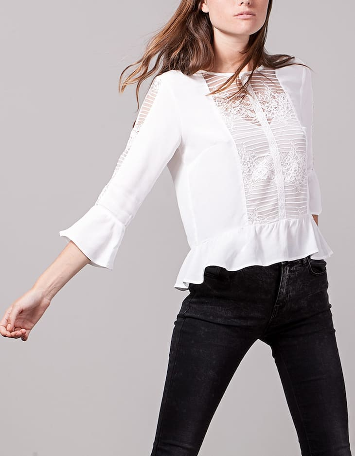 Top with lace frill