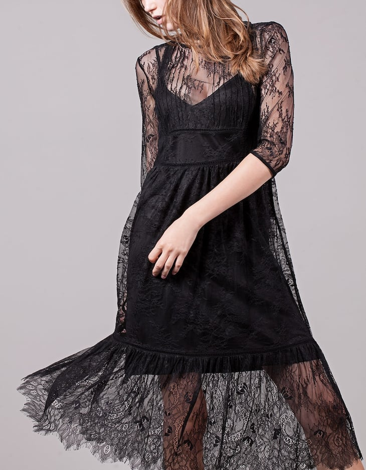 Lace dress with transparency detail