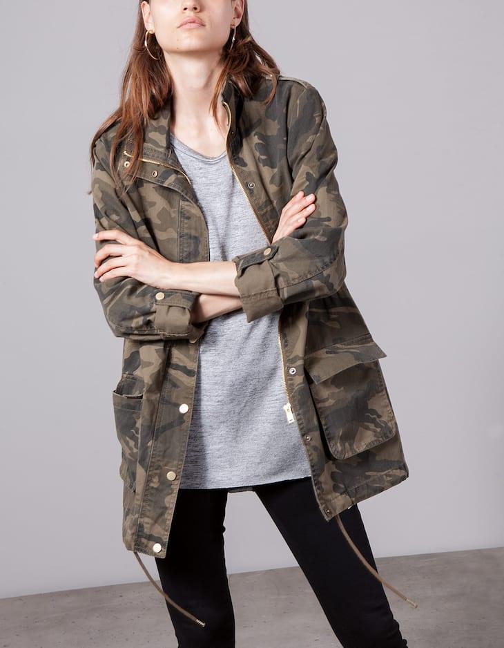 Camouflage utility coat