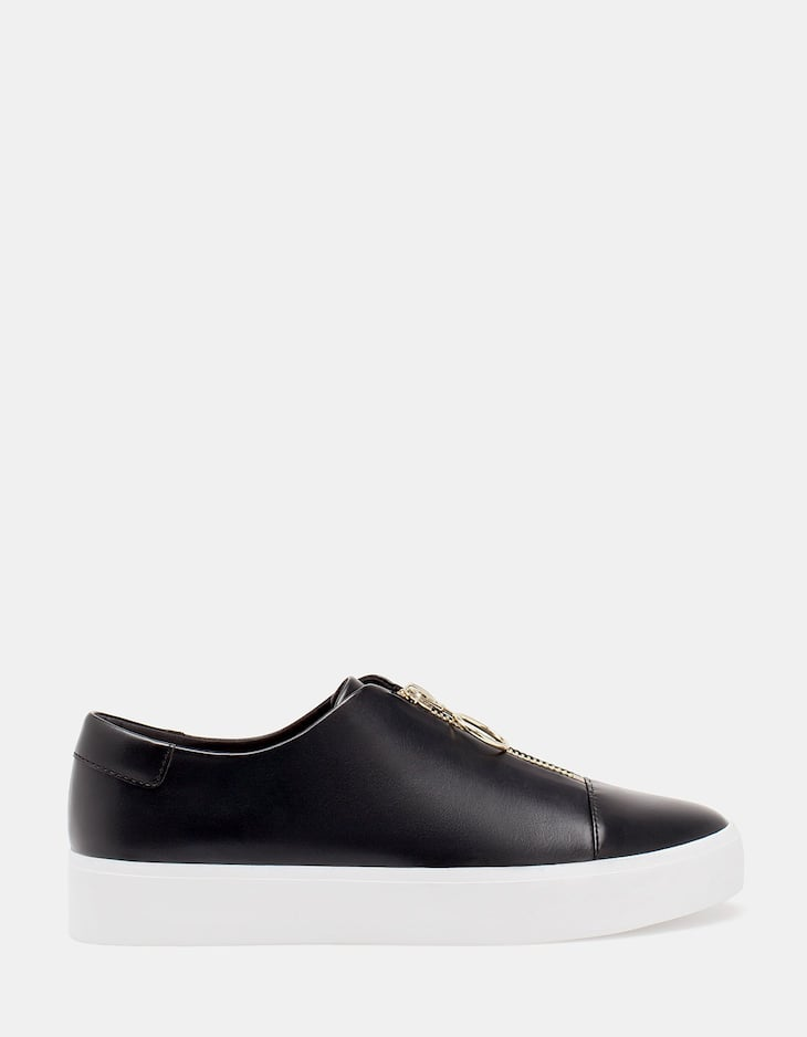 Slip ons with zip detail