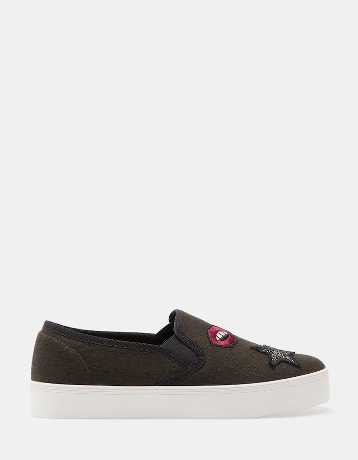 Patch slip ons
