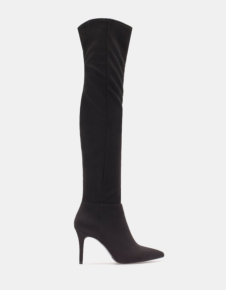 Narrow heel XL boots