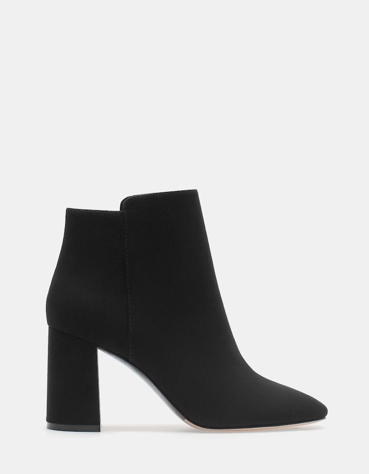 Lined High Heel Ankle Boots