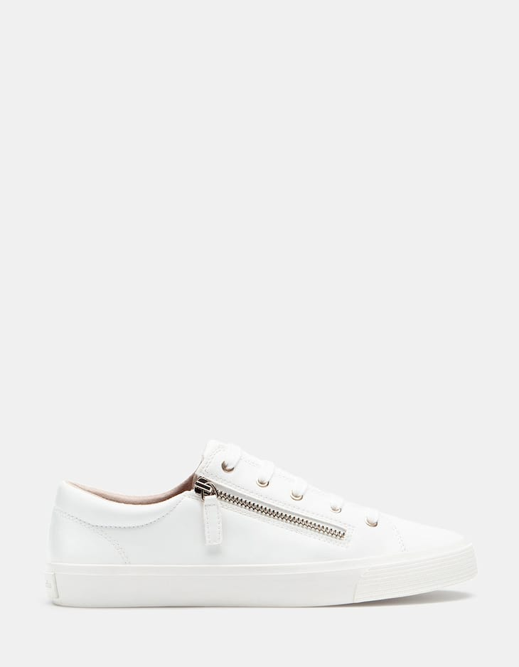 Plimsolls with zip detail