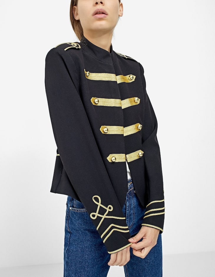 Uniform-style short jacket