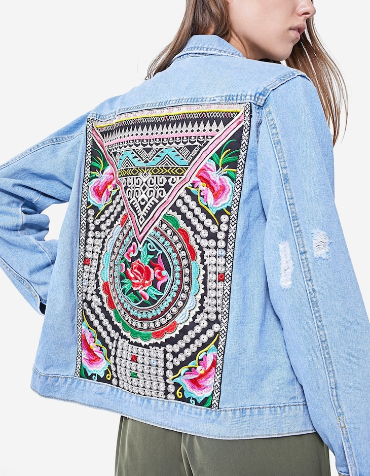 Jacquard denim jacket