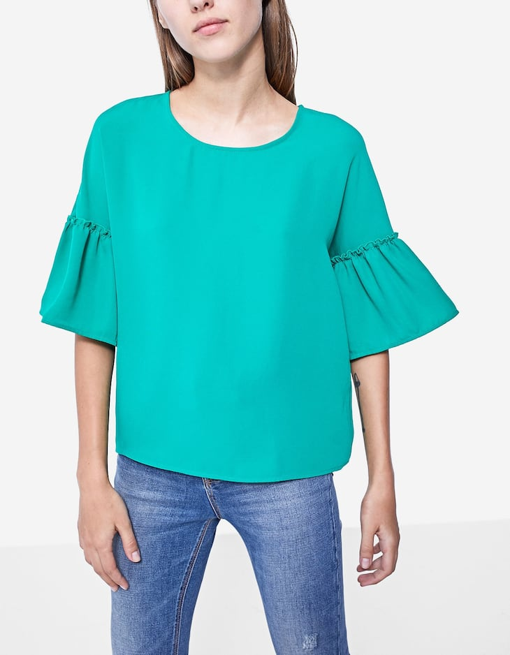 Shirt with frill detail