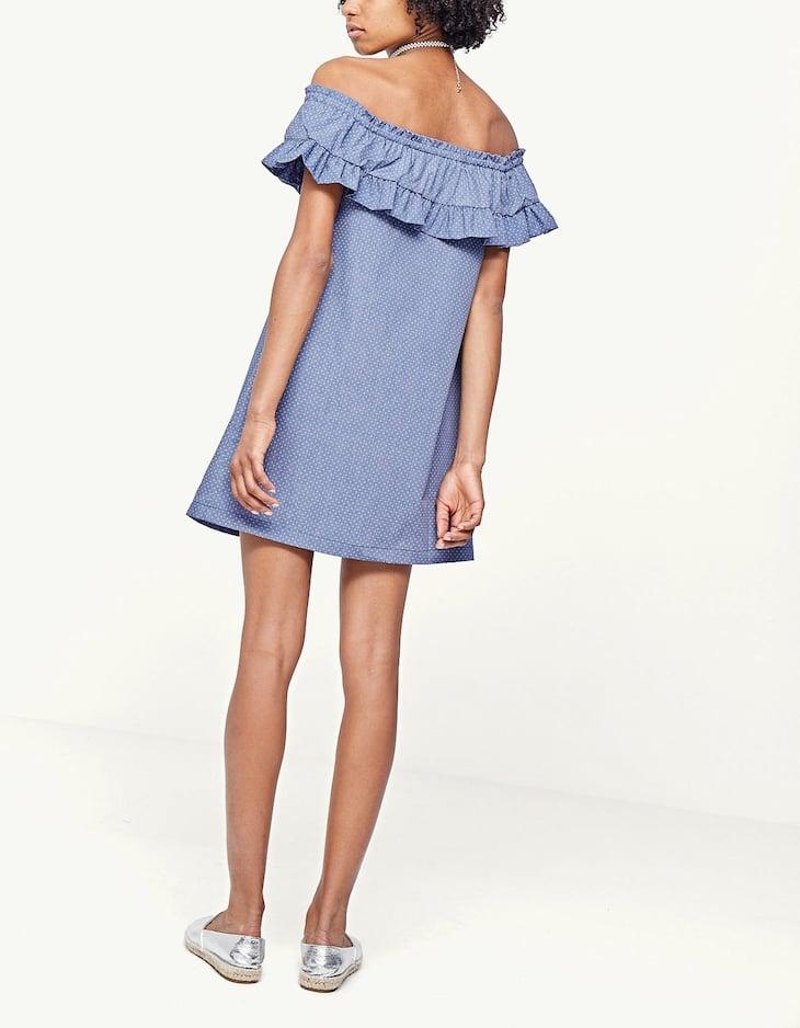Polka dot poplin dress