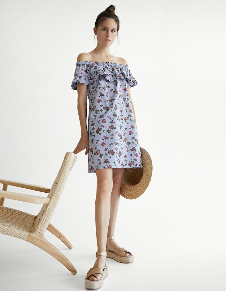 Vestido popelina