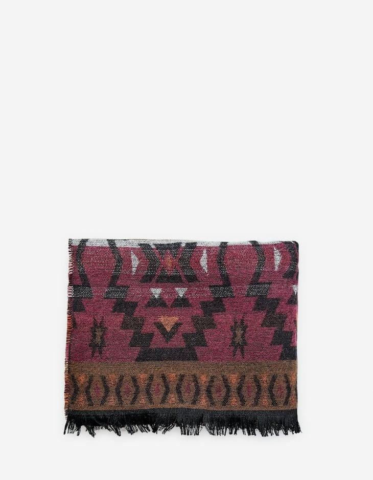 Folk scarf with border