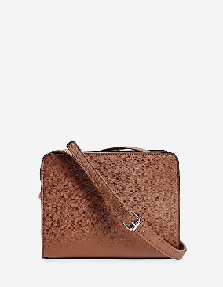 Мини-сумка с плечевым ремнем и двумя молниями