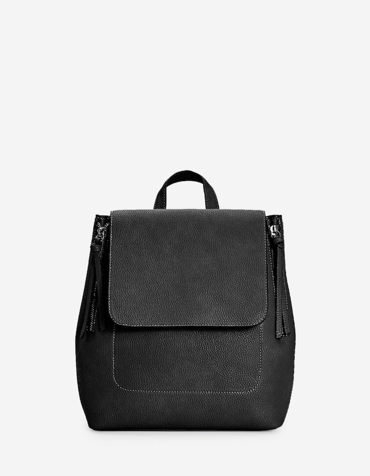 Backpack with zips