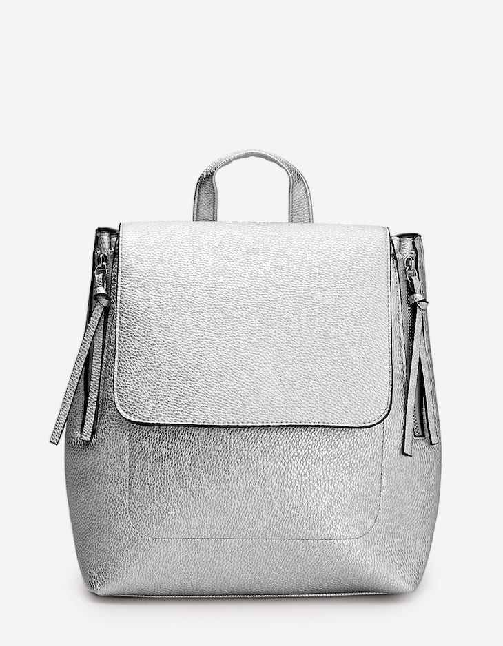 Backpack with side zip detail