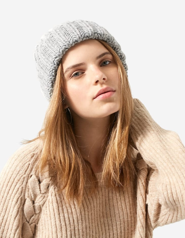 Thick chunky knit hat