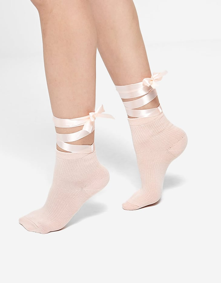 Socks with ribbons