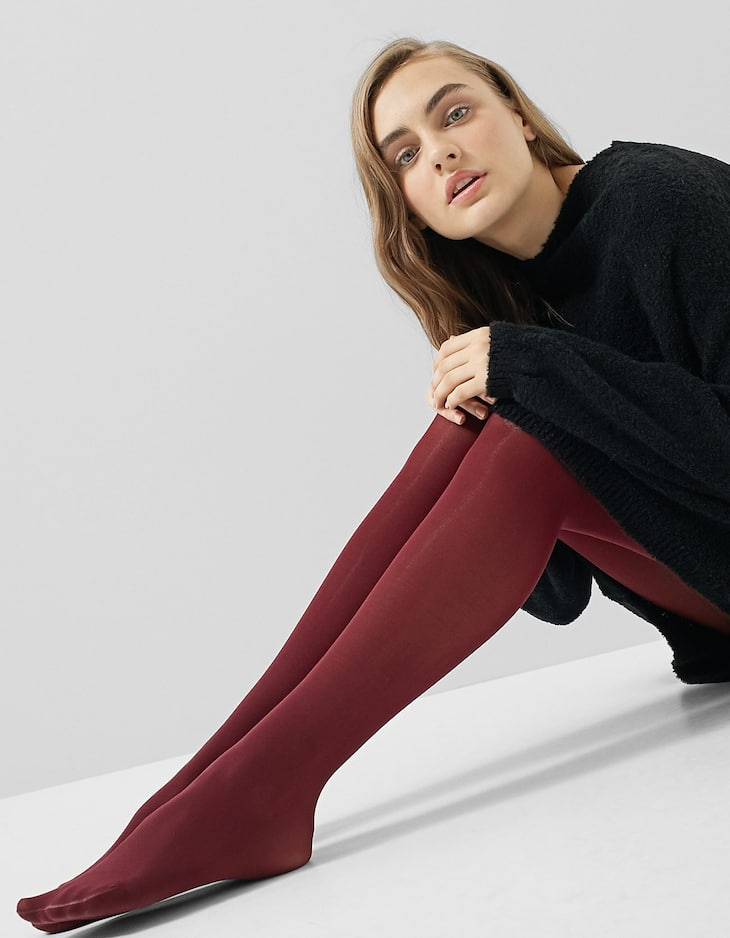 Solid-coloured tights 40 DN