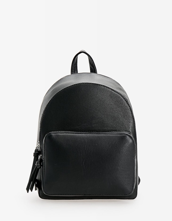 Structured backpack with pocket
