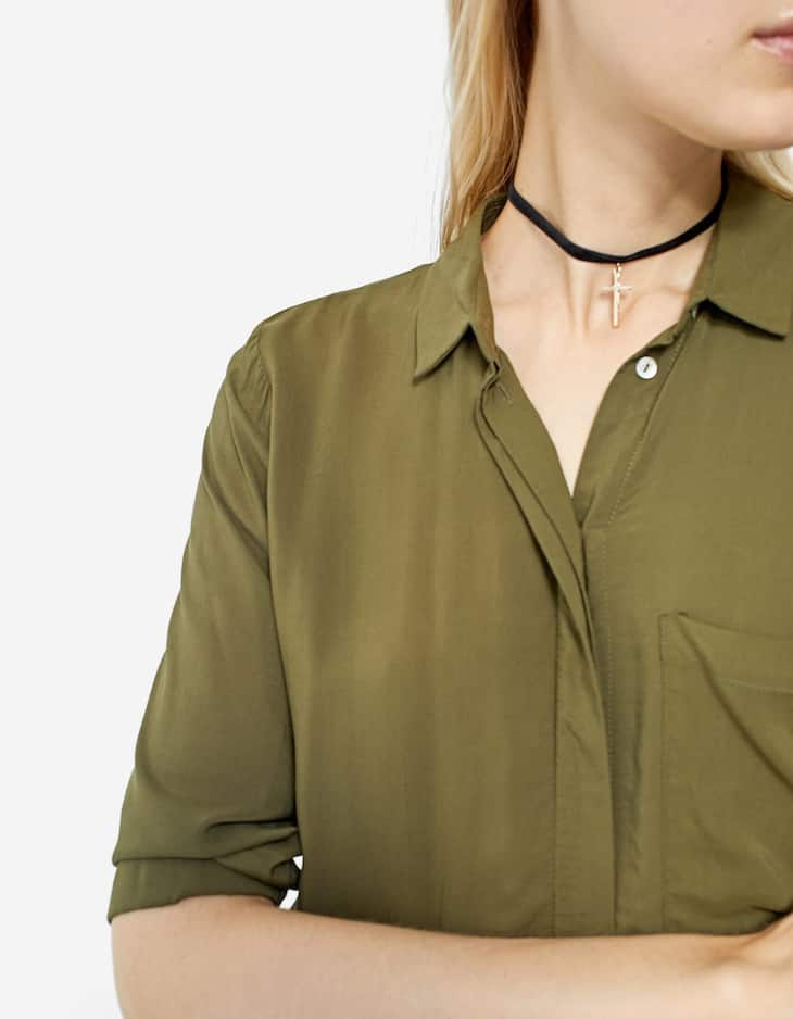 Long shirt with 3/4 length sleeves