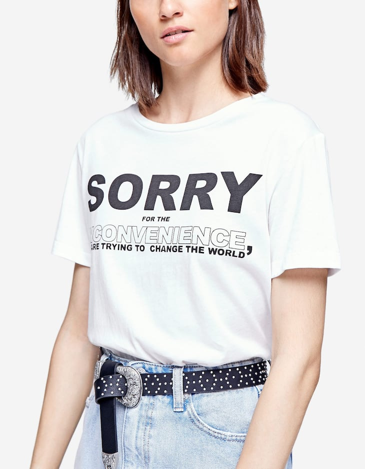 T-shirt with slogans