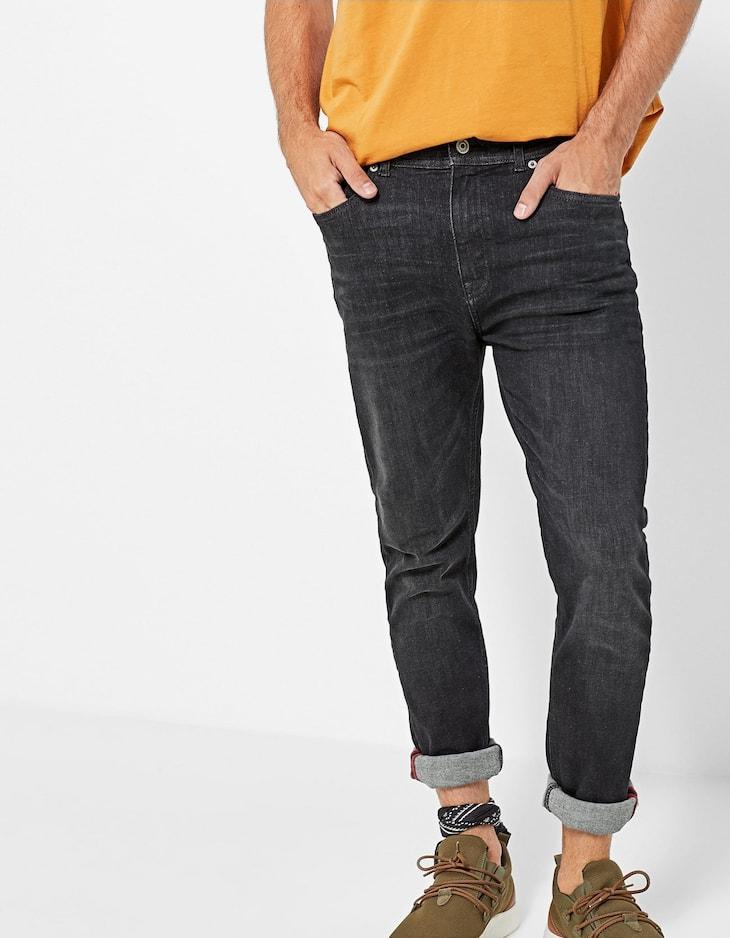 High flex skinny fit trousers