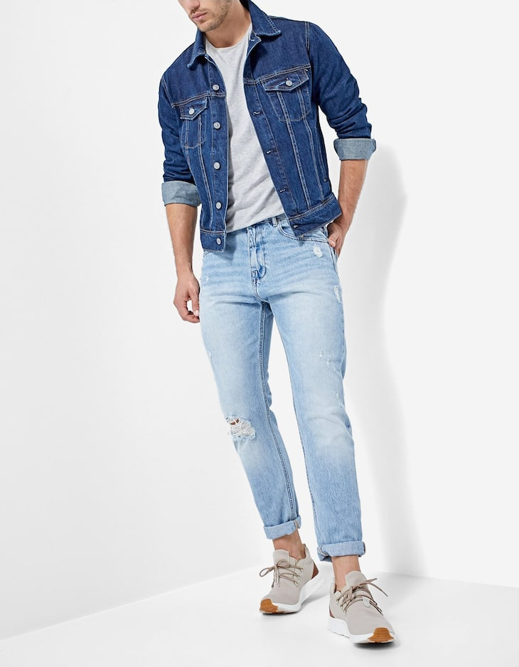 Basic tapered jeans